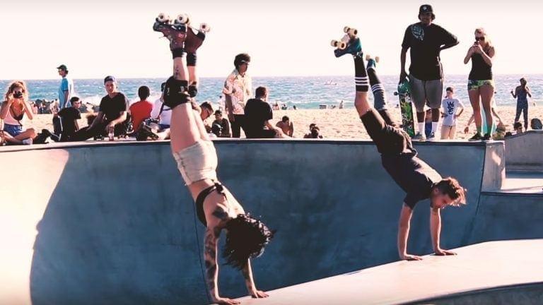 roller skater handstand